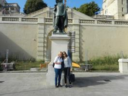 Capucine and I in Auch