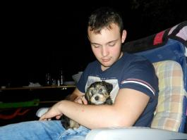Paul and puppy Scotty
